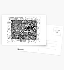 1996 Quantum Physics Hexagram Postcards