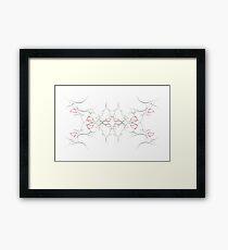Aura / Symmetrical Angel Framed Print