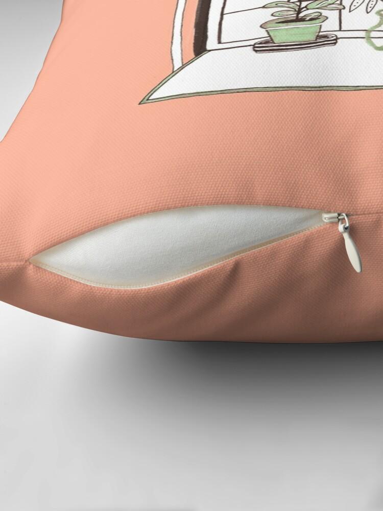 Alternate view of Plant Window Throw Pillow