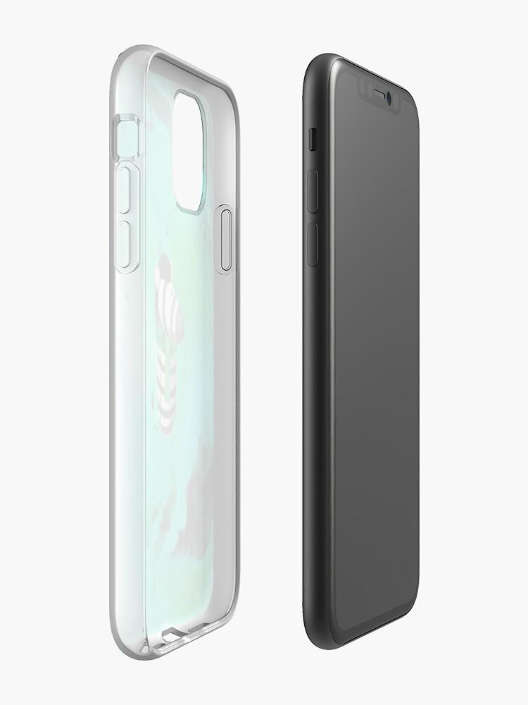 Coque iPhone «Écharpe M. Vert», par CAH6KA