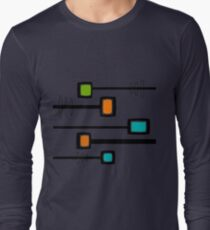 Mid-Century Modern Abstract Long Sleeve T-Shirt