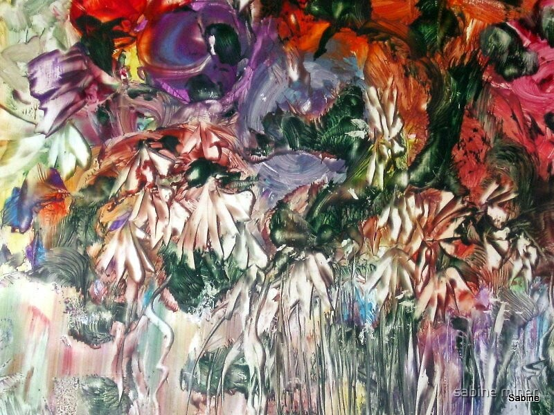 country garden bouquet (detail) by sabine miner