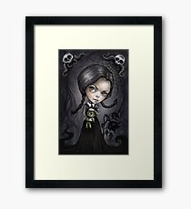 Gloomy Girl Wednesday Addams Framed Print