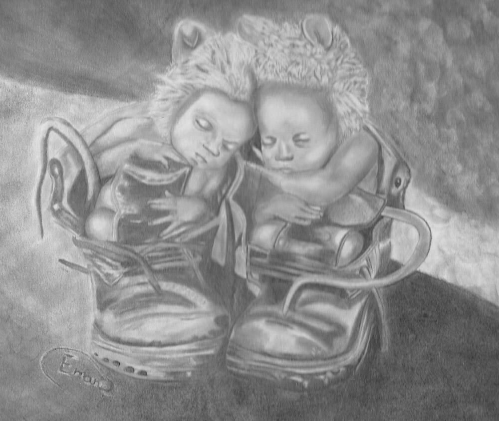 Twins Nap by sky   princess