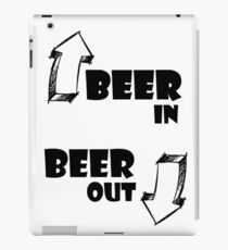 Beer In, Beer Out iPad Case/Skin