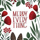Merry Everyting mit skandinavischen Blumen von blursbyai