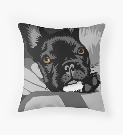 Diesel gets a hug Throw Pillow
