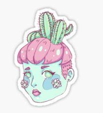 Cactus Head Sticker