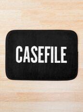 Casefile True Crime Podcast Logo (Light) Bath Mat