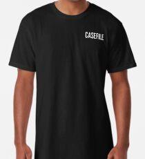 Casefile True Crime Podcast Logo (Light) Long T-Shirt