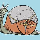 Warrior Snail Suited Up for Battle by Otter-Grotto