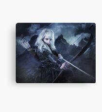 Elven warrior girl archeress Canvas Print