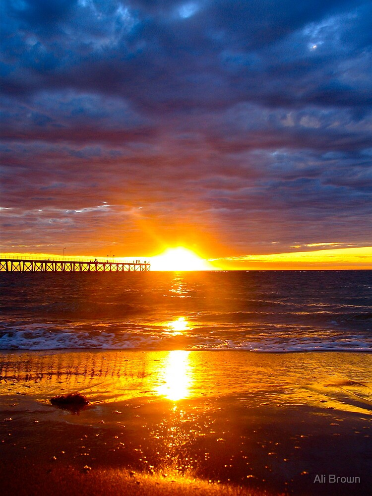 Ball of fire..Port Noarlunga Beach by Alison  Brown