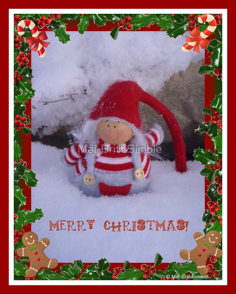 Merry Christmas - card14  :-) by Maj-Britt Simble