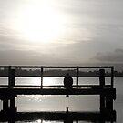 On the Jetti in lake illawarra by Ryan Conyers