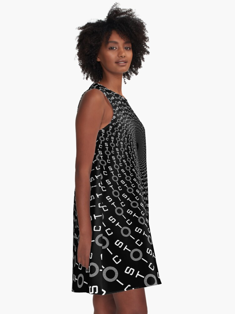 Alternate view of Stoic Calm Badge - Freedom Circle - Stay Stoic A-Line Dress