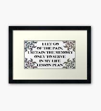 Life lesson Framed Print
