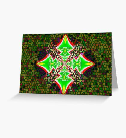 Digital Tree Star 1 Greeting Card