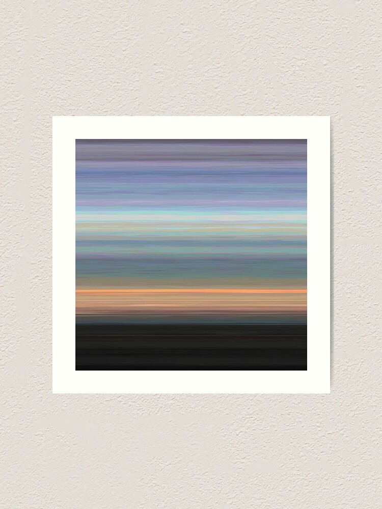 Alternate view of Off into the Sunset - Striped Art Print