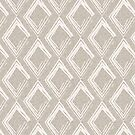 Modern Farm House Diamond Abstract Beige by susycosta