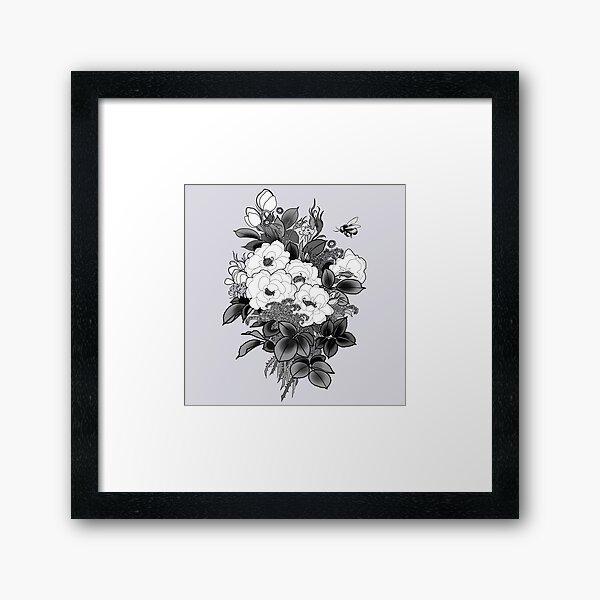 Romantic Bouquet Framed Art Print