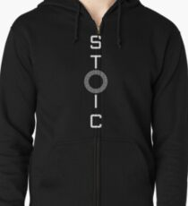 Stoics Stay Vertical - Greek Circle - Stay Stoic Zipped Hoodie