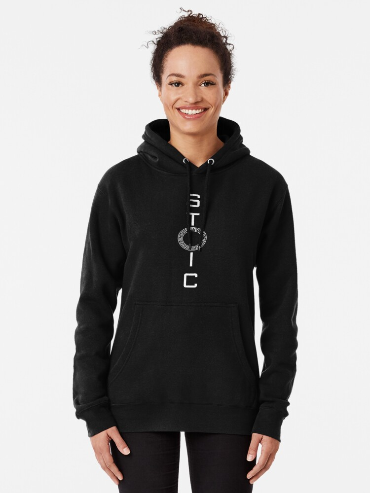 Alternate view of Stoics Stay Vertical - Greek Circle - Stay Stoic Pullover Hoodie