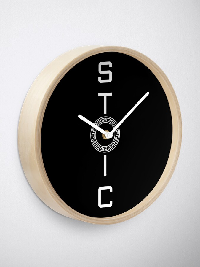 Alternate view of Stoics Stay Vertical - Greek Circle - Stay Stoic Clock