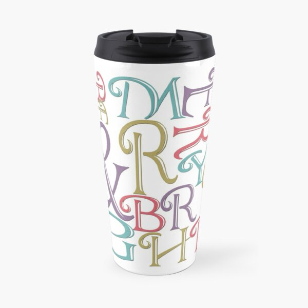 Be Merry and Bright Typography  Travel Mug