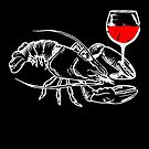 Funny Lobster Drinking Wine Food Pun Gift von mjacobp