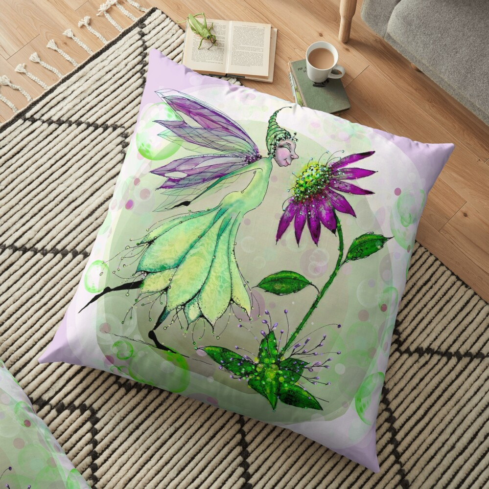 We Have So Much in Common - Fairie and Daisy Floor Pillow