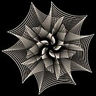 Abstract Monochrome Flower by Shapes-Mania