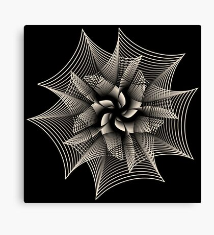 Abstract Monochrome Flower Canvas Print