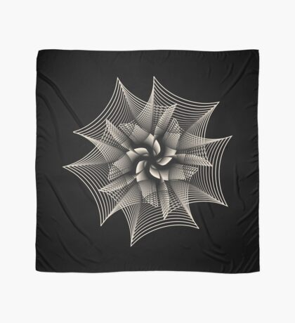 Abstract Monochrome Flower Scarf