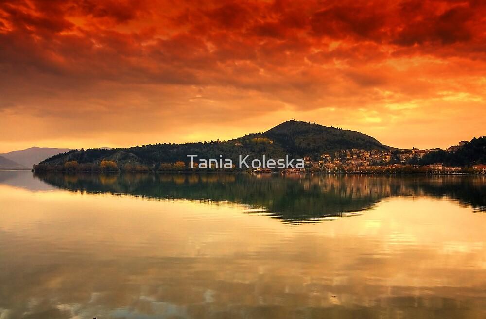 Kastoria...on Fire.... by Tania Koleska