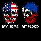 My Home My Blood Skull Philippines Flag Pride von mjacobp