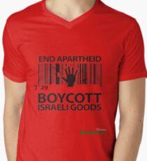 BOYCOTT ISRAELI GOODS Men's V-Neck T-Shirt
