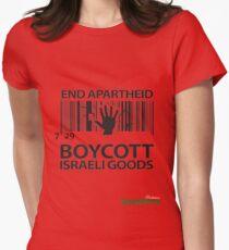 BOYCOTT ISRAELI GOODS Women's Fitted T-Shirt