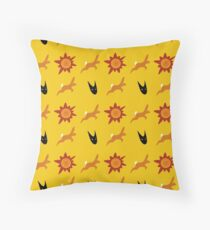 Chasing Life and Death Throw Pillow