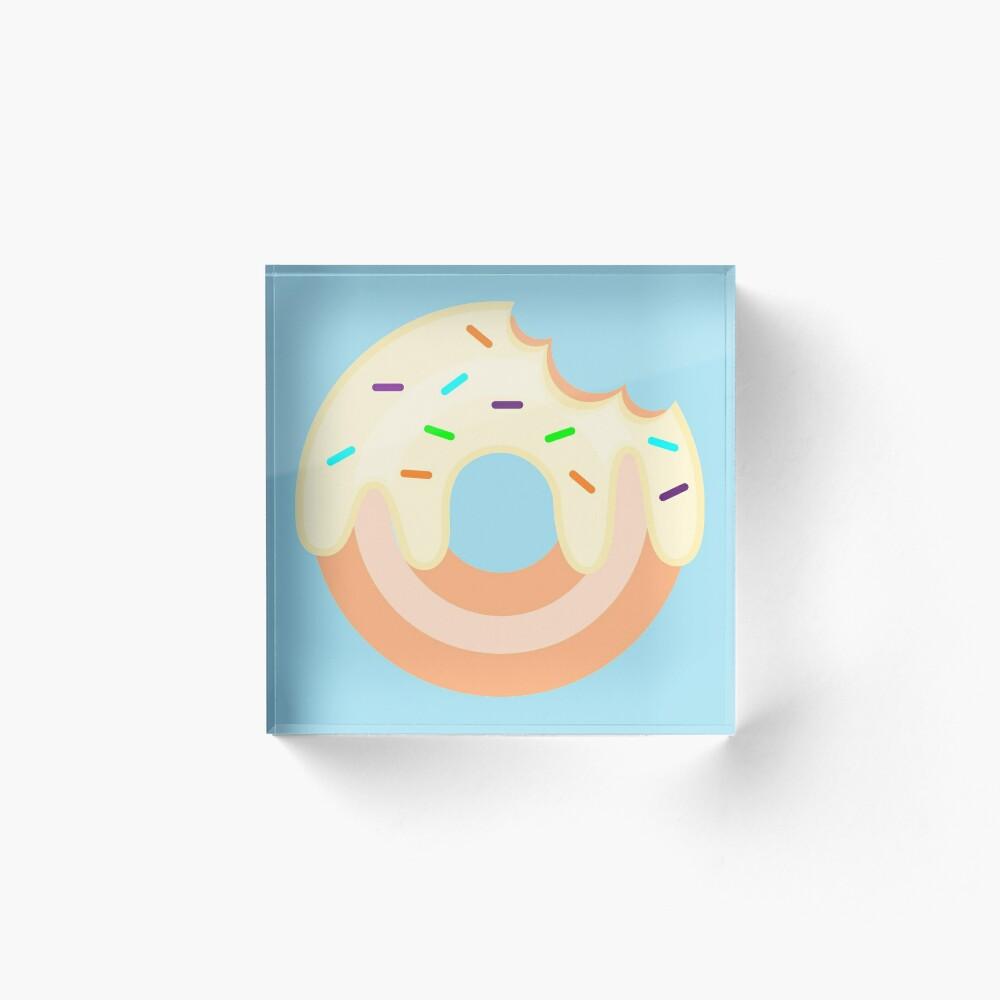 Vanilla Donut Acrylic Block