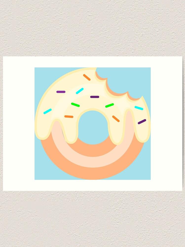 Alternate view of Vanilla Donut Art Print