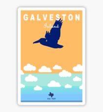 Galveston  - Texas. Sticker