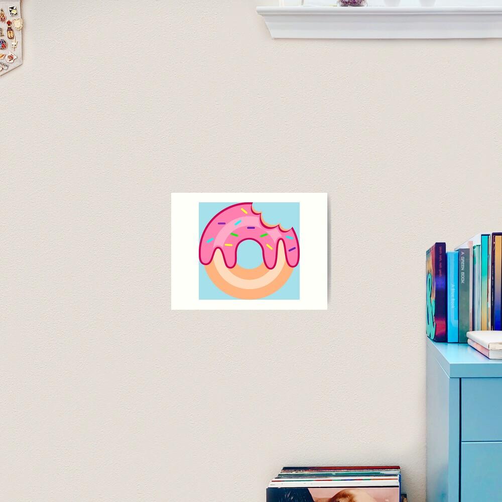 Strawberry Donut Art Print