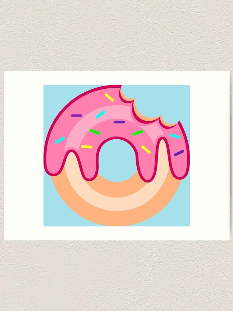 Alternate view of Strawberry Donut Art Print