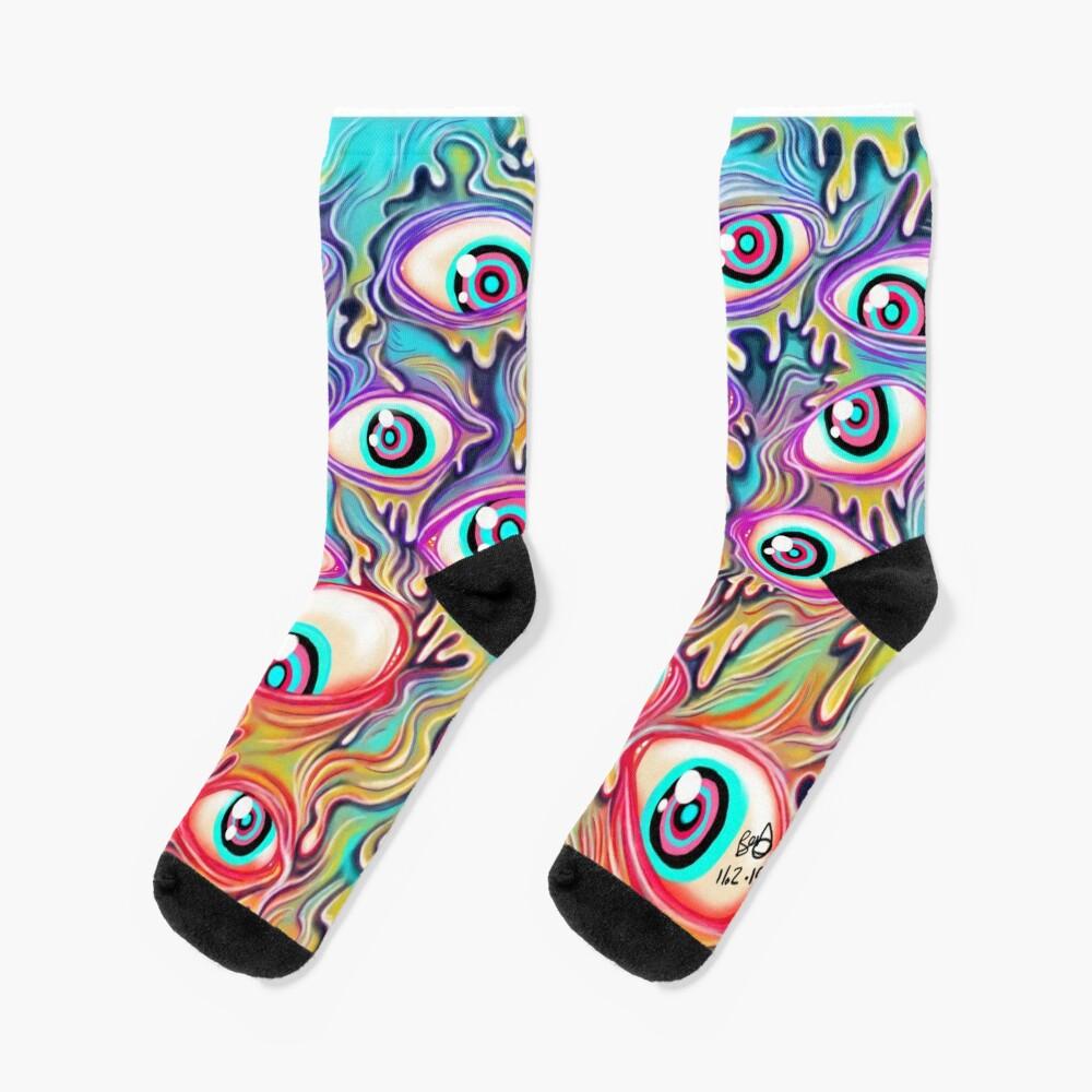 Eyeball Pattern Socks