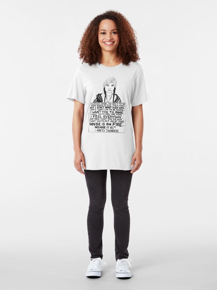 Alternate view of Greta Thunberg Slim Fit T-Shirt