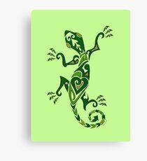 Lizard Tattoo -textured Canvas Print