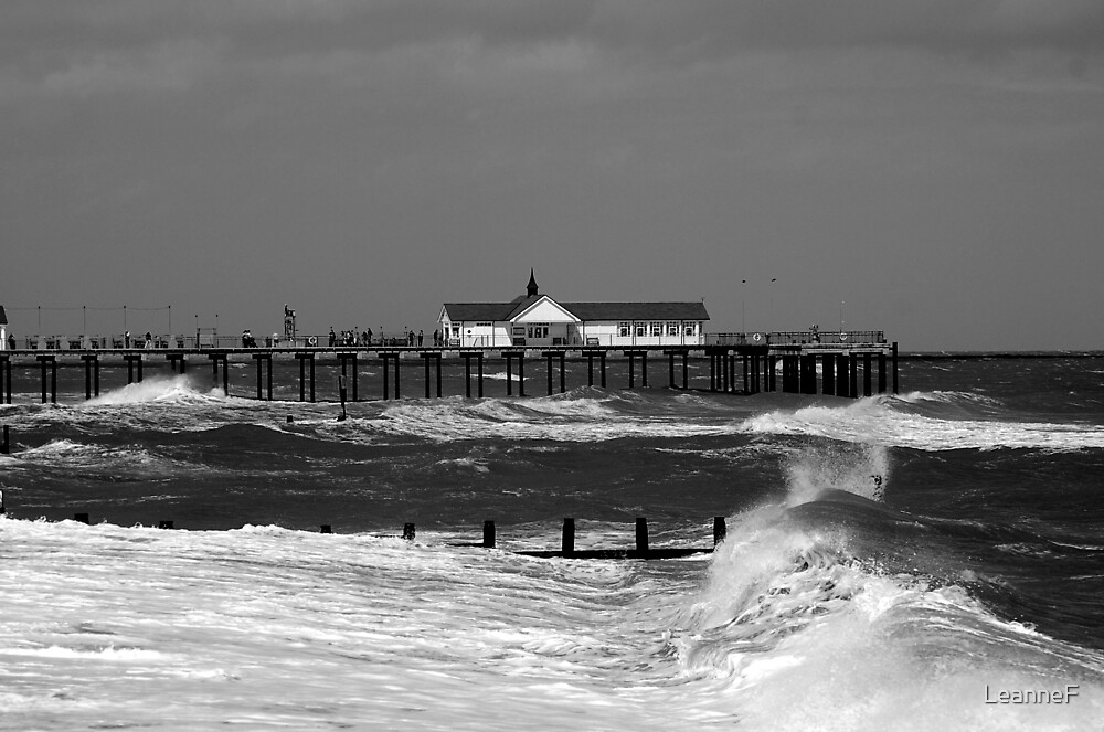 Summer Storm - Southwold Pier by LeanneF