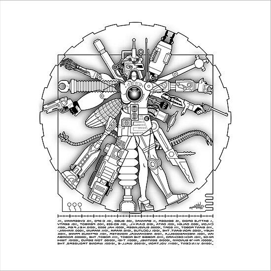 Vitruvian Machine - Print by Captain RibMan
