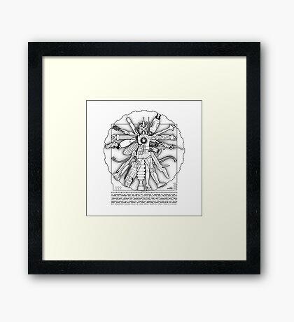 Vitruvian Machine - Print Framed Print